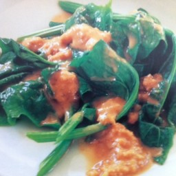 Spinach with Peanut Sauce