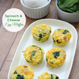 Spinach  and  Cheese Egg Muffins