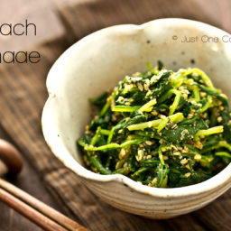 Spinach Gomaae (Spinach with Sesame Sauce) Recipe