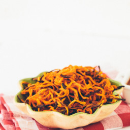 Spiralized Garlic-Paprika Sweet Potato Fries