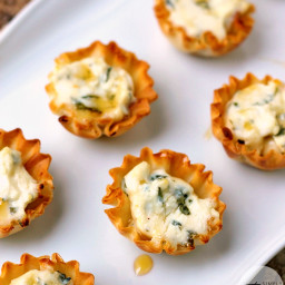 Spring Herb Tartlets with Honey and Goat Cheese