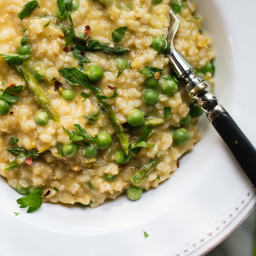 Spring Pea and Asparagus Risotto
