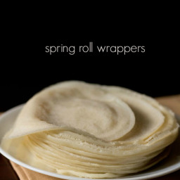 spring roll wrappers recipe - how to make spring roll wrappers