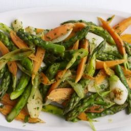 Spring Vegetables with Warm Vinaigrette