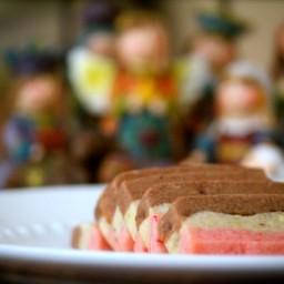 Spumoni Shortbread Cookies