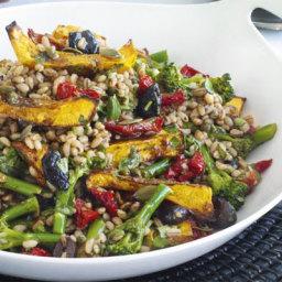 Squash and barley salad with balsamic vinaigrette