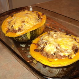 Squash Stuffed with Beef