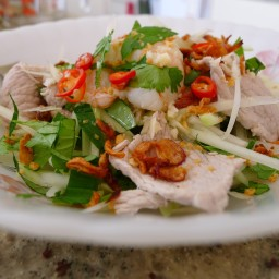 (SS) Green papaya salad with prawns and pork