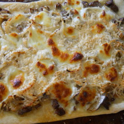 Steak and Onion Pizza