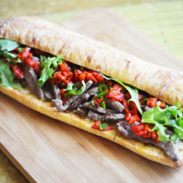 Steak and Roasted Red Pepper Sandwich