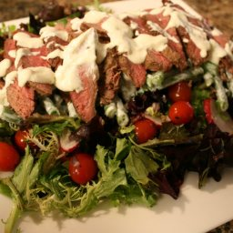 Steak and Tomato Salad with Horseradish Dressing