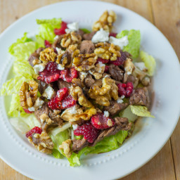 Steak, Goat Cheese and Raspberry Salad