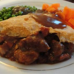 Steak, Guinness and Cheese pie with Puff Pastry Lid - Jamie at home