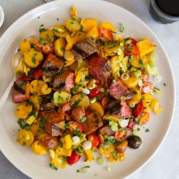 Steak Salad with Tomato-Sherry Vinaigrette