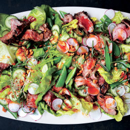 Steakhouse Salad with Red Chile Dressing and Peanuts