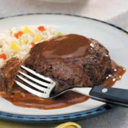 Steaks With Red Wine Gravy (Stovetop)