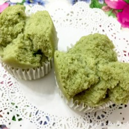 Steamed Matcha Rice Cake