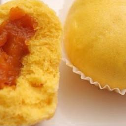 Pumpkin Buns (eggless, steam)