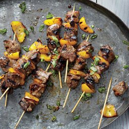 Sticky Korean Lamb Skewers