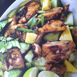 Sticky mango chicken salad