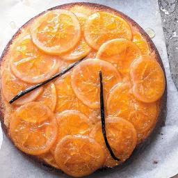 Sticky orange and vanilla upside down cake