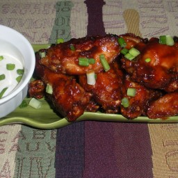 Sticky, Sweet Chicken Wings