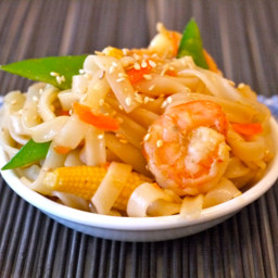 Stir-Fried Brown Rice Chinese Noodles