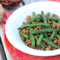 Stir-fried Green Beans with Minced Pork in XO Sauce
