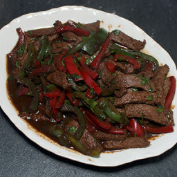 STIR-FRIED BEEF WITH BLACK BEAN AND CHILI