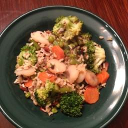 Stir Fry Vegetables with Brown Rice