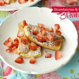 Strawberries  and  Cream Blintzes