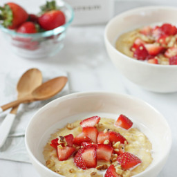 Strawberries and Cream Breakfast Polenta