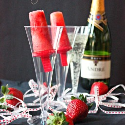 Strawberry Champagne Popsicles