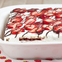 Strawberry Icebox Cake (No Bake!)