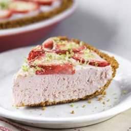 Strawberry-Lime Ice Cream Pie