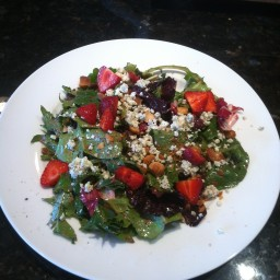 Strawberry Macadamia Nut Salad