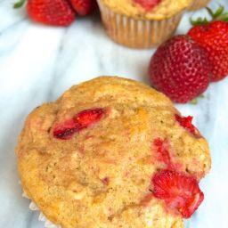 Strawberry Oatmeal Yogurt Muffins