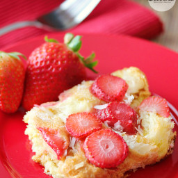 Strawberry  and  Coconut Breakfast Casserole