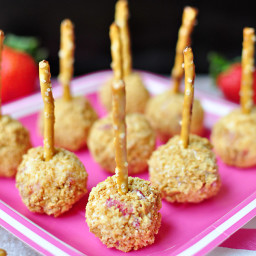 Strawberry Graham Cheese Ball Bites