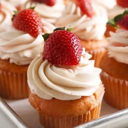 Strawberry Surprise Cupcakes