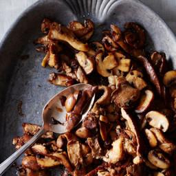 Stuart Briozas Mushrooms in Pickle-Brine Butter