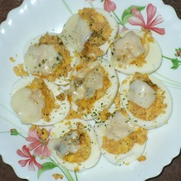 Stuffed Baked Eggs
