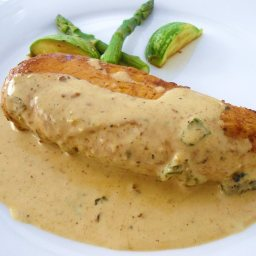 Stuffed Chicken Breasts with Spinach and Mushrroms