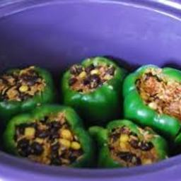 Stuffed Green Peppers In Crock Pot