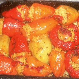 Stuffed Peppers With Rice And Pine Nuts