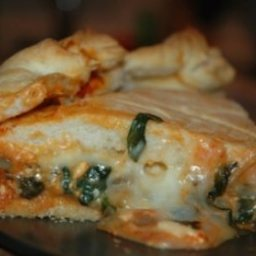 Stuffed Spinach Pizza