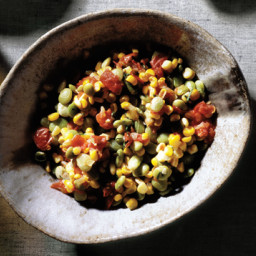Succotash of Fresh Corn, Lima Beans, Tomatoes and Onions