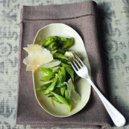 Sugar Snaps with Extra-Virgin Olive Oil and Shaved Parmigiano