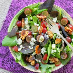 Sugared Walnut Grape Salad