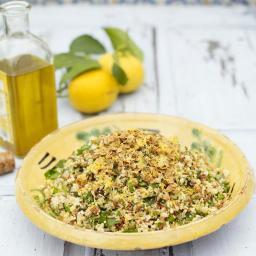 Summer four-grain salad with garlic, lemon & herbs
